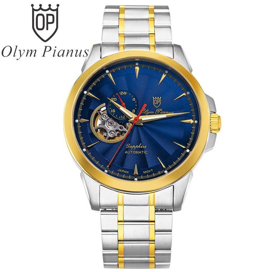 Đồng hồ nam dây kim loại Automatic Olym Pianus OP990-083 OP990-083AMSK xanh lam