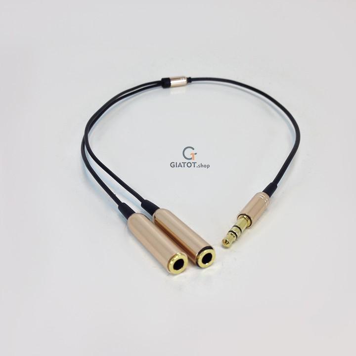 Cáp chia Audio 2 cổng 3.5mm cao cấp (Đen)