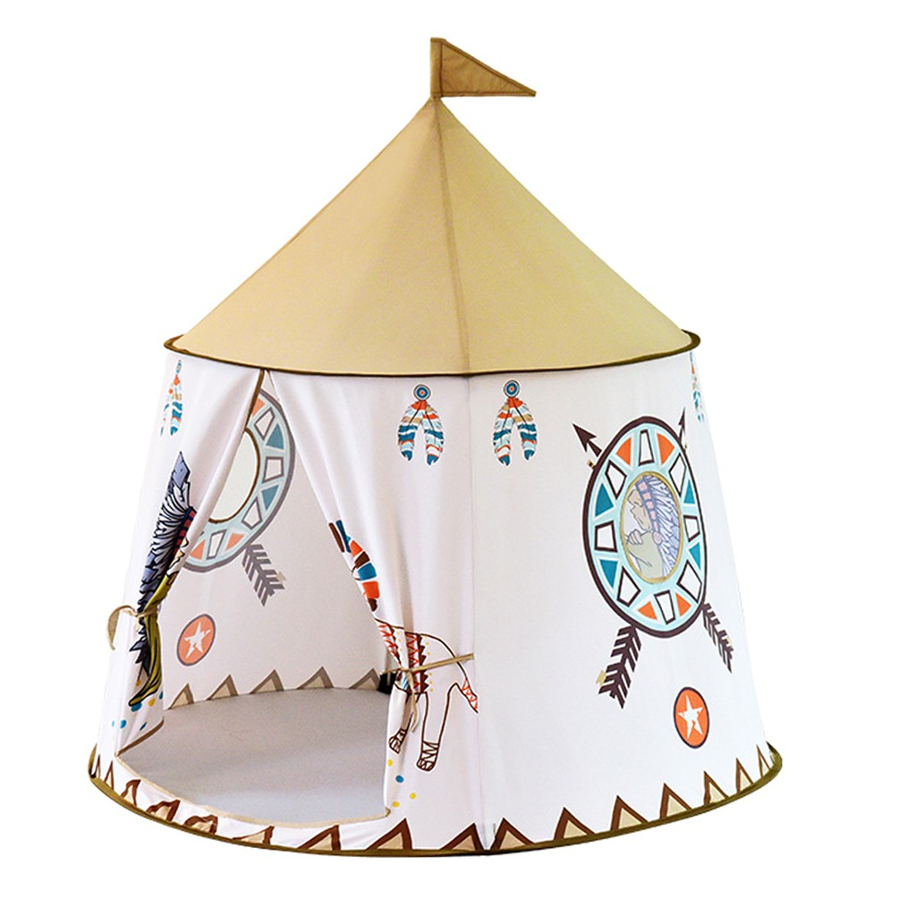 Pop Up India Teepee Castle Tent Play Tent Indoor & Outdoor Play Toy -Lion
