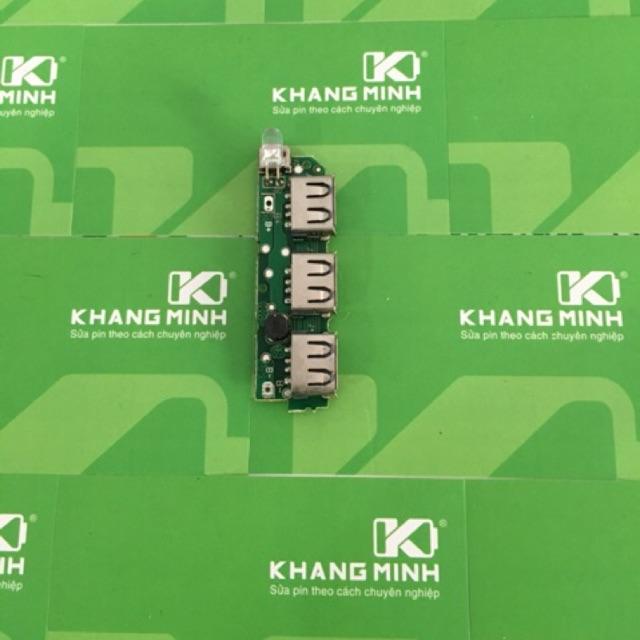 KM Mạch sạc pin dự phòng 3 ngõ ra USB Micro