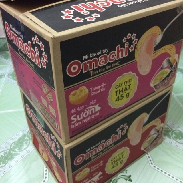 | Thùng Mỳ Cốc Omachi | mỳ cốc Omachi Xúc Xích Thật 113g(24 cốc)