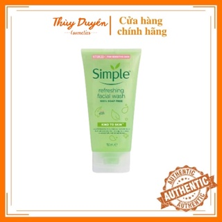 sữa Rửa Mặt Simple Gel kind To Skin 150ml Chính Hãng Cho Da Dầu