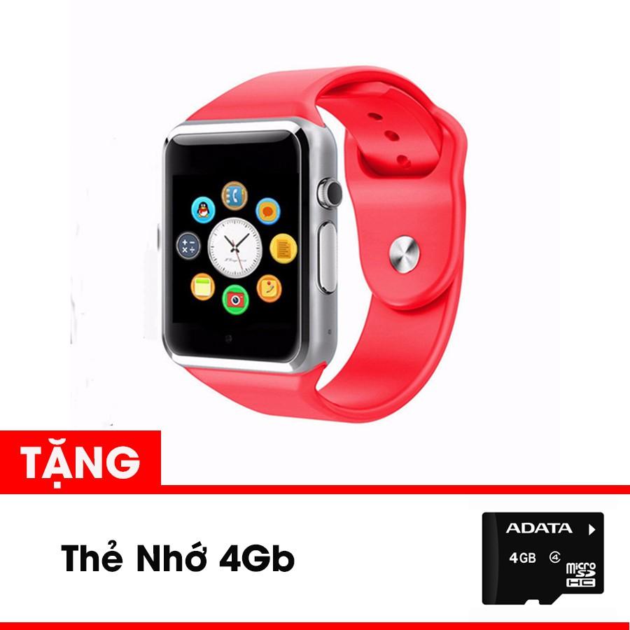Combo quà tặng cuối năm: Đồng hồ thông minh SA1 màu Đỏ cảm ứng tặng kèm thẻ nhớ 4Gb