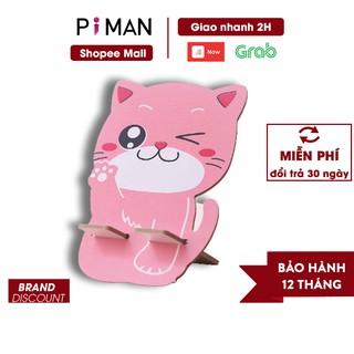 Giá đỡ điện thoại hình mèo may mắn hàng loại 1 PK08 Piman thumbnail
