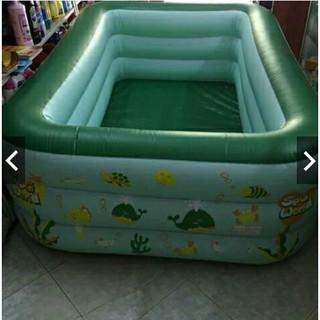 Bể bơi bơm hơi 2m1 2 tầng, 2m4 2 tầng (tặng bộ miếng vá + h.d sử dụng)