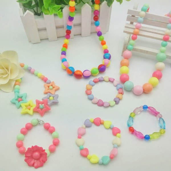 1 Set Fashion Toys Creative Colorful DIY Bracelet Beads for Girl Jewelry Making