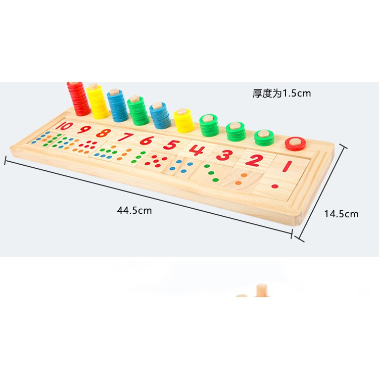 Bộ tập đếm tập đọc số tập tính toán trí tuệ bằng gỗ_Đồ chơi gỗ_SocSau