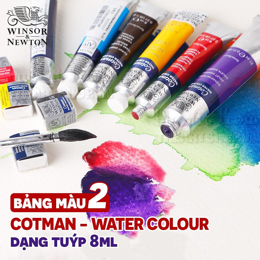 (P2) Màu nước Winsor dạng tuýp (bán lẻ) - Winsor & Newton Cotman Watercolour Paint Tube 8ml (Retail)