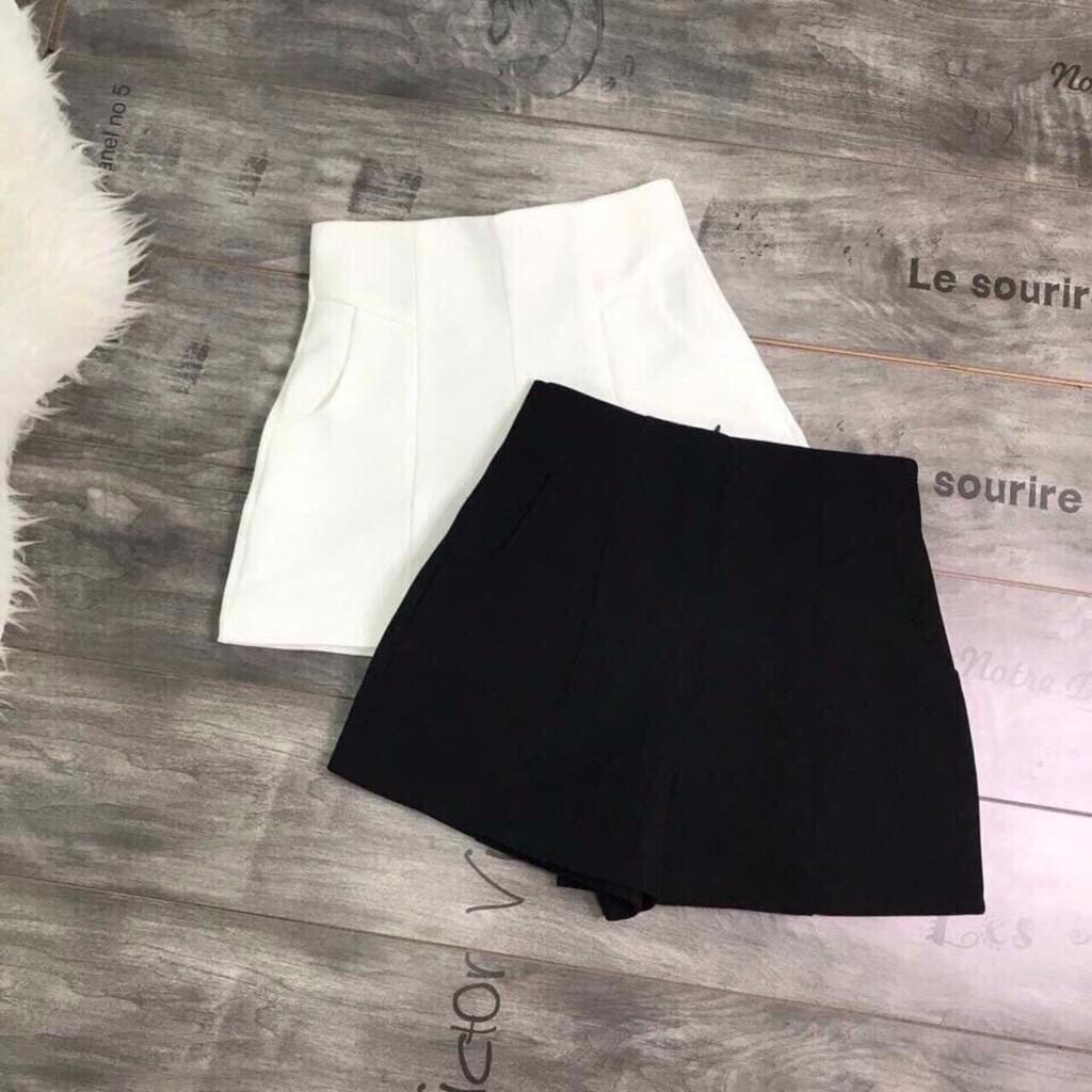 BÁN BUÔN - Quần sooc vải cạp cao cho nữ