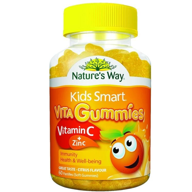 Kẹo Dẻo Bổ Sung Vitamin C & Kẽm ZinC Cho Bé - Nature