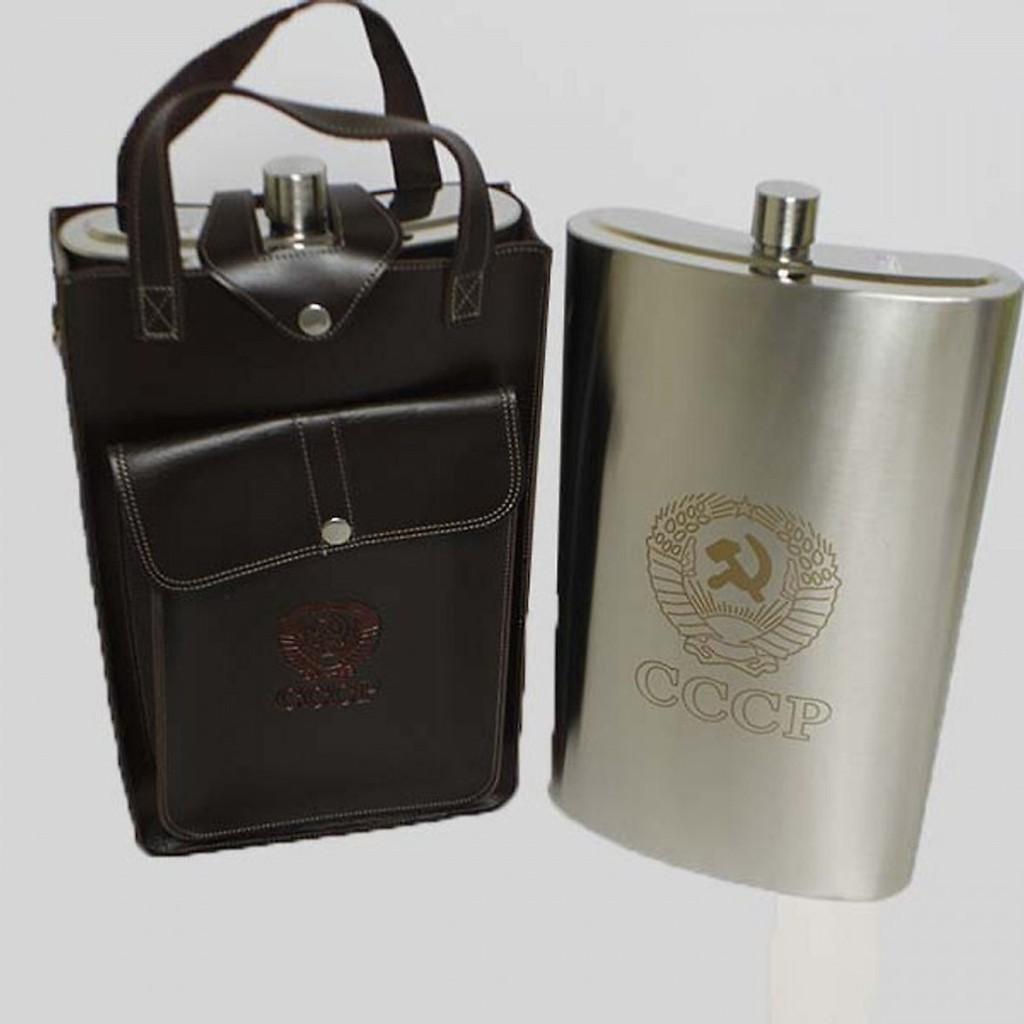 Bình Đựng Rượu Inox CCCP loại Truyền Thống Dày Dặn ( inox 304 ) - 178oz ~ 5.4L
