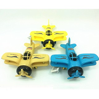 Mô hình máy bay đồ chơi chạy đà ném bom có đèn và nhạc cho bé