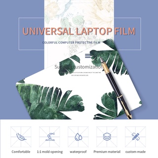 2 pcsdecal skin laptop miếng dán máy tính Tropical plant leaves for acer macbook hp asus dell