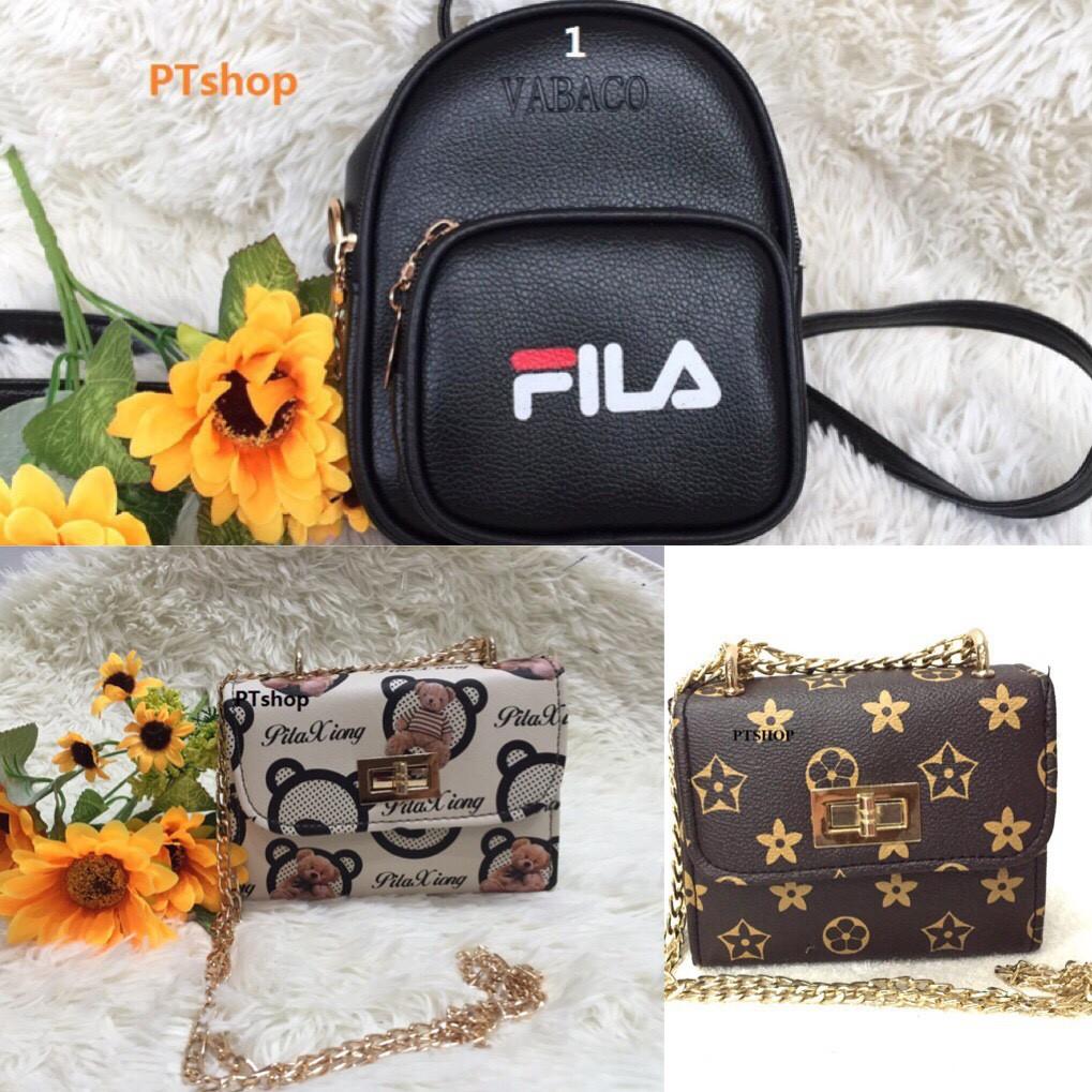 Combo 4 túi xách nữ thời trang PT15 + 1 balo mini Fila
