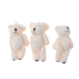 {NUV} 3Pcs Kawaii 6cm Bears Plush Soft Toys Dolls For Children Gifts Wedding Bouquet{LJ}