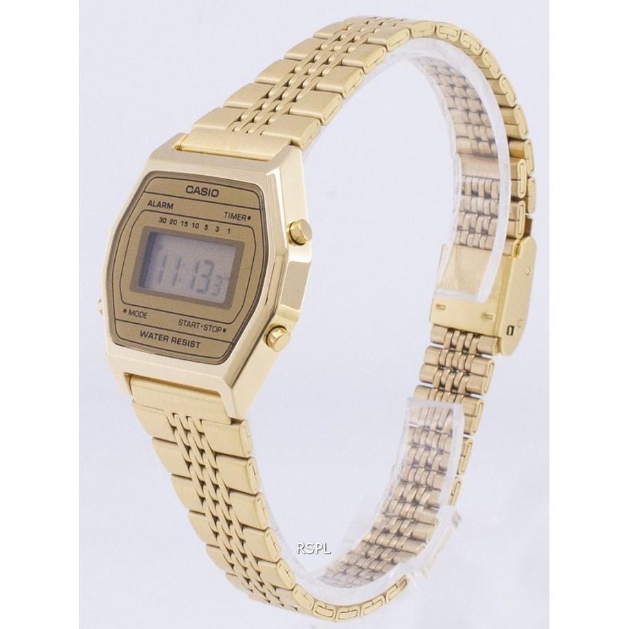 Đồng hồ nữ điện tử Casio LA690WGA-9DF dây thép (chính hãng Anh Khuê)