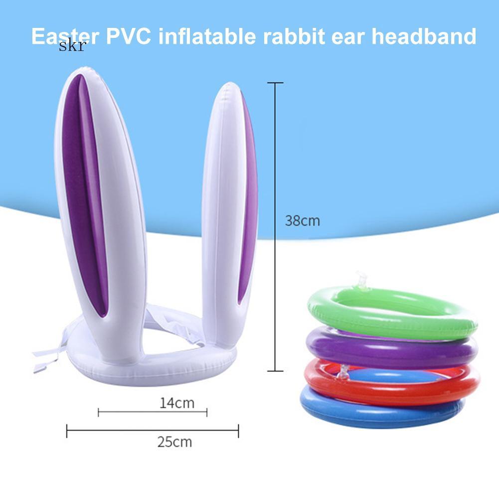1 hoặc 2 bộ đồ chơi ném vòng vào tai thỏ bơm hơi vui nhộn