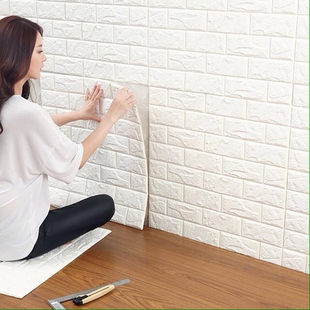 Xốp dán tường giả gạch 3d kích thước 77x70cm