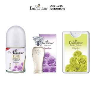 Bộ 3 sản phẩm Enchanteur Lăn khử mùi Sensation 25ml, Nước hoa Sensation 10ml, Nước hoa bỏ túi Delightful 18ml thumbnail