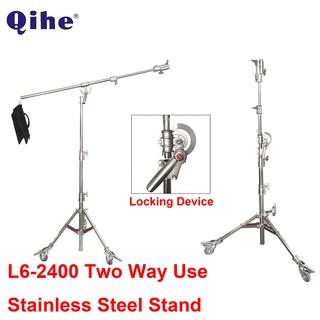 Chân Đèn Qihe L6-2400 loại có bum và bánh xe