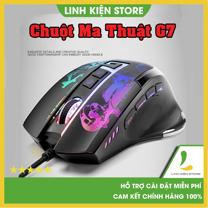 Chuột Demon Baron Famous Blade G7 V1 -  Chuột Auto Tap cực nhanh chơi game PUBG, Liên Minh Huyền Thoại, Đột Kích, PUBG
