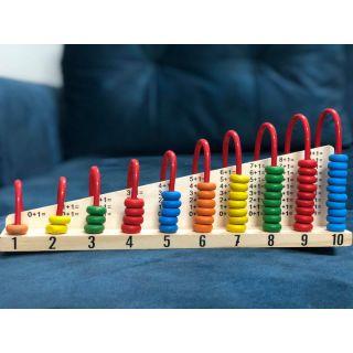 Bộ đồ chơi cộng trừ bảng cửu chương bằng gỗ