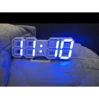Đồng hồ LED 3D treo tường, để bàn thông minh TN828 Smart Clock