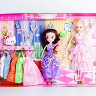 Búp bê cho bé gái tặng kèm váy, túi, khuyên tai