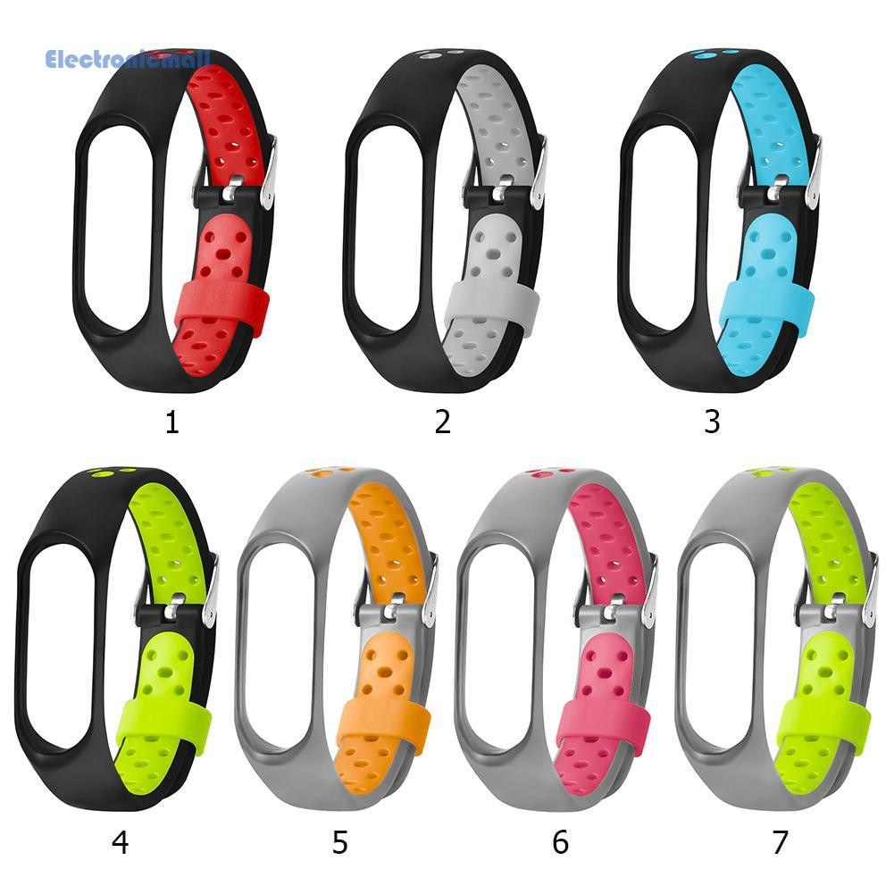 ✍ELE High-quality TPE Metal Buckle Ventilated Bracelet Watch Strap Band for Xiaomi Miband 3 Useful