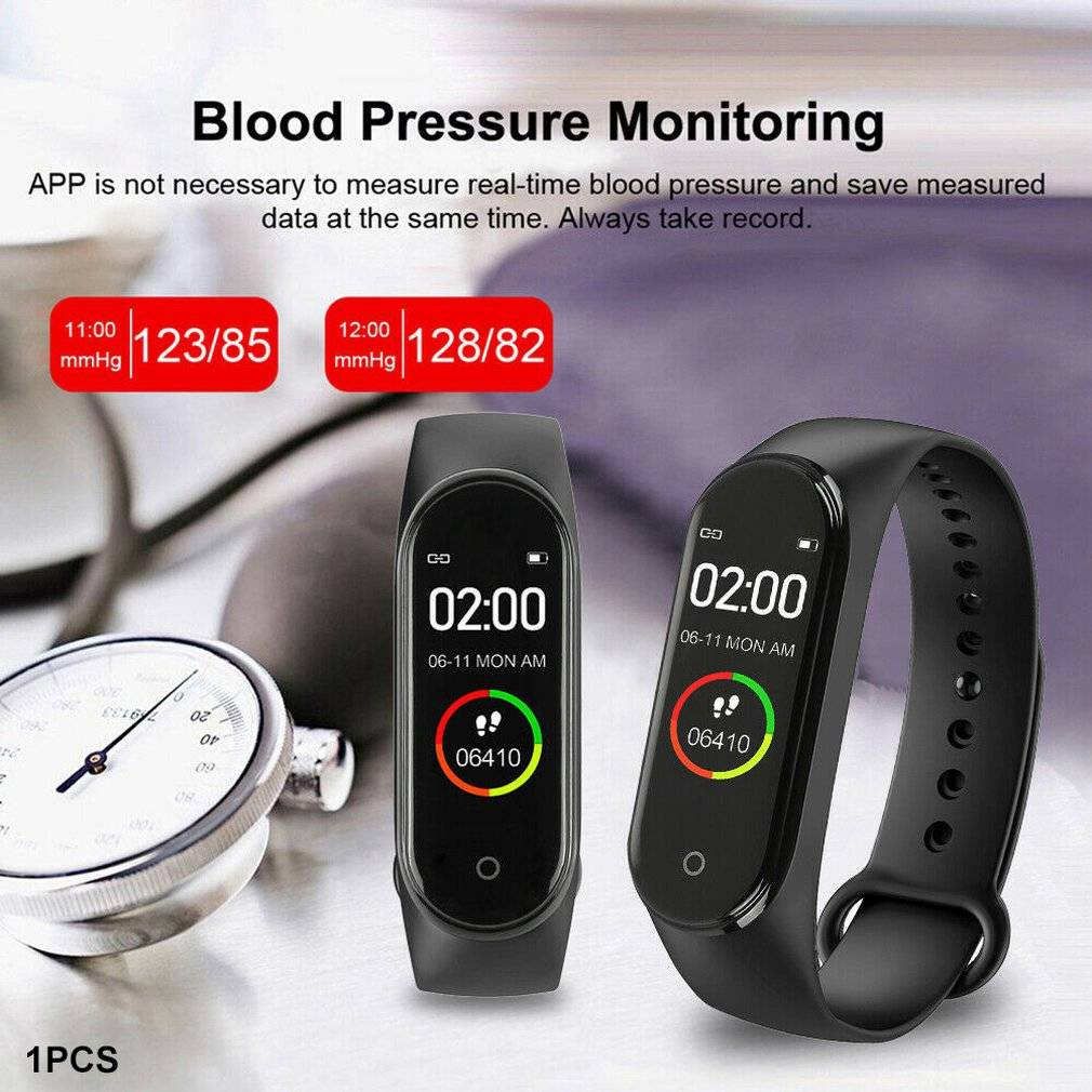 Đồng hồ thông minh M4 chống nước IP67 đo nhịp tim huyết áp – thông báo cuộc gọi