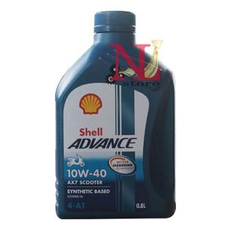 Nhớt Shell Advance AX7 Scooter 800 ml 10w40