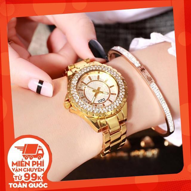 Đồng hồ lắc tay nữ dây kim loại đính hột xoàn sáng lấp lánh - SIÊU CHẤT LƯỢNG