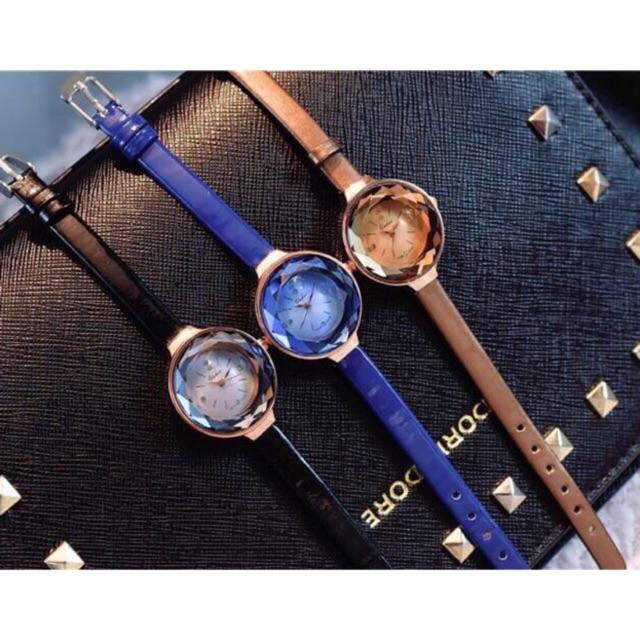 Đồng hồ nữ Yuhao L7098 mặt pha lê dây da 3 màu cực xinh - 3393390 , 968845763 , 322_968845763 , 450000 , Dong-ho-nu-Yuhao-L7098-mat-pha-le-day-da-3-mau-cuc-xinh-322_968845763 , shopee.vn , Đồng hồ nữ Yuhao L7098 mặt pha lê dây da 3 màu cực xinh