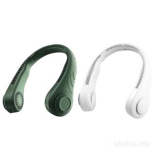 UKI  Portable Neck Fan Hands Free Bladeless Fan USB Rechargeable Fan Headphone Design