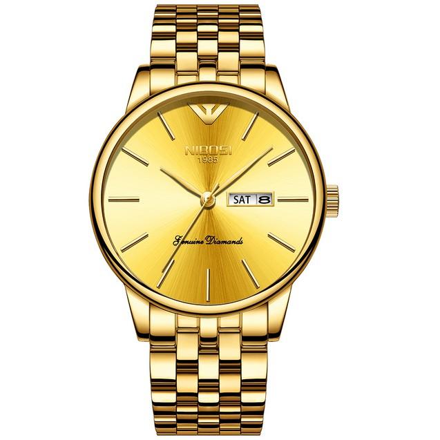 Đồng hồ nam dây thép đặc Nibosi 2332 (fullbox)