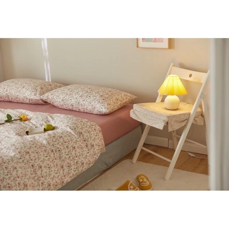 COTTON HOA HỒNG NHÍ (kèm ảnh thật) -  bộ vỏ chăn ga giường