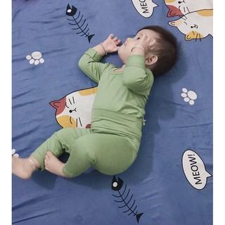 Bộ dài tay Minky Mom thun lạnh cho bé (5-15kg) cực đẹp MKM01 @