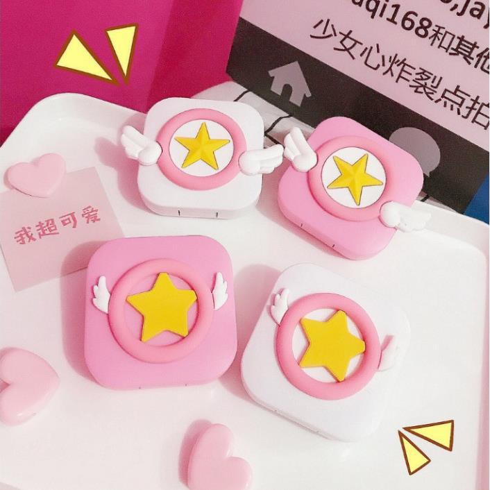 [Siêu Rẻ Lun] Hộp Đựng Lens- Khay Để Lens Hình Sakura Xinh Xắn Dễ Thương Cho Các Bạn Nữ. -...