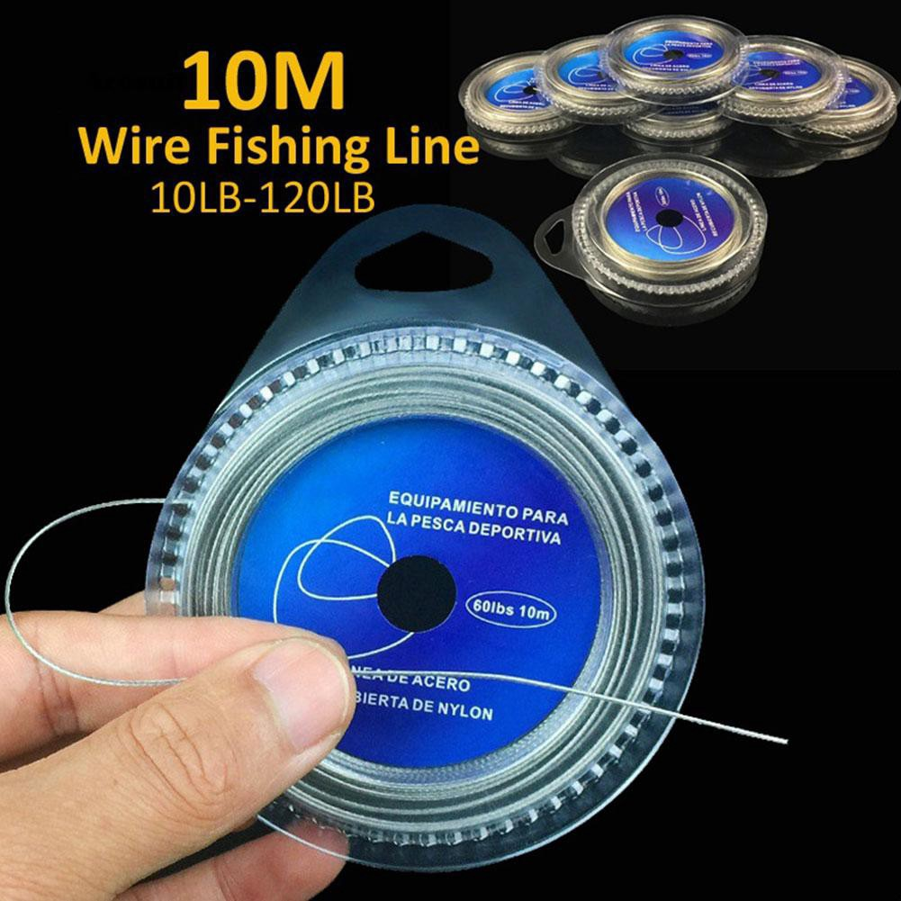 AEST_10M 7 Strands Braid 10LB-120LB Stainless Steel Wire Super Strong Fishing Line