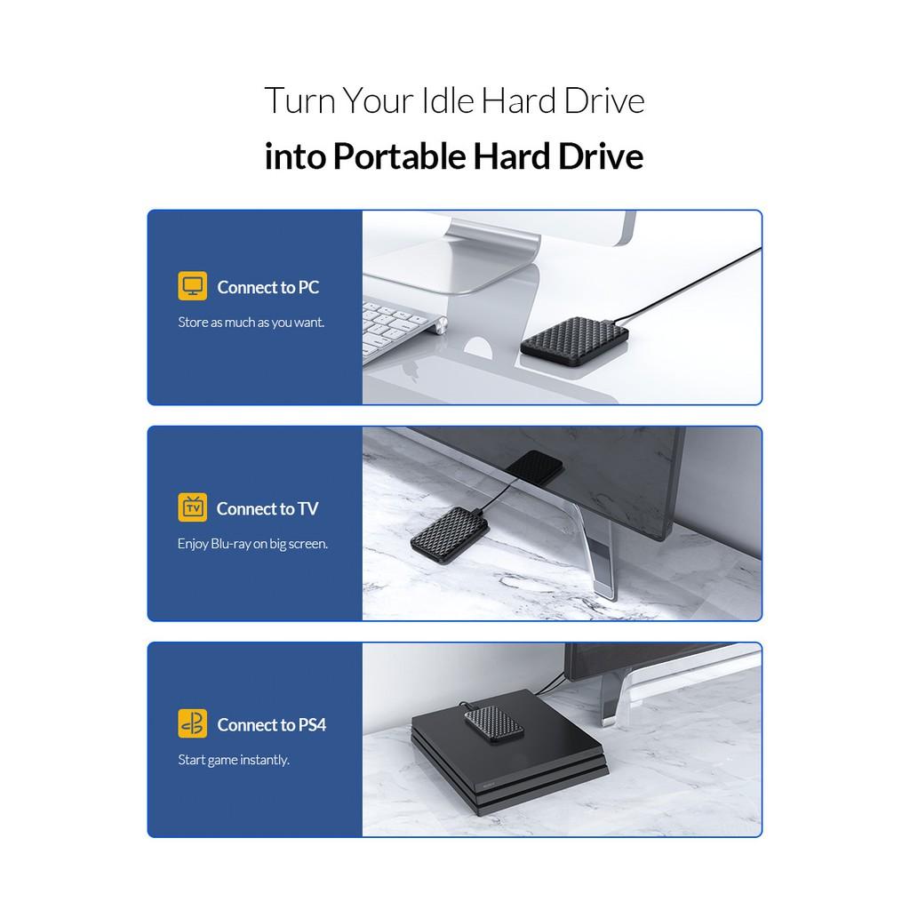 """Hộp Đựng Ổ Cứng ORICO 2520U3 2.5"""" SSD/HDD SATA 3 USB 3.0 - Hàng Chính Hãng"""