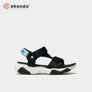 Giày Sandals SHONDO Girly – GIM0010-Đế Trắng Quai Đen CC >