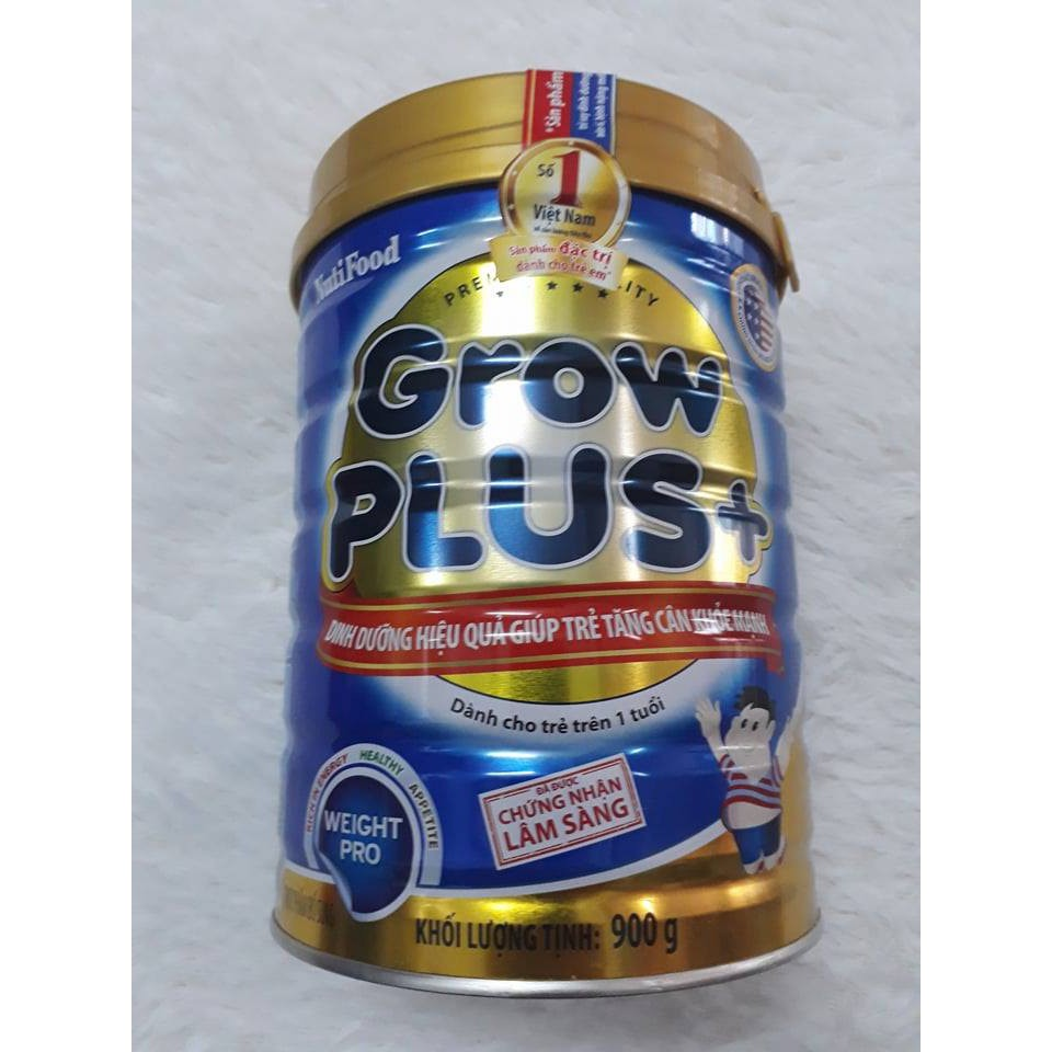 Sữa Grow Plus+ (xanh) 900g NutiFood MẪU MỚi date 2019 (1 tuổi trở lên)