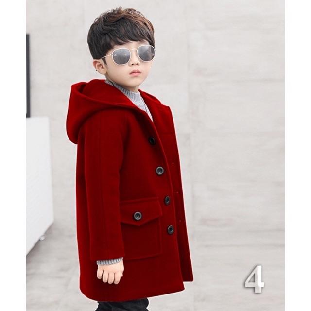 Áo khoác dạ bé trai. Hàng thiết kế cao cấp