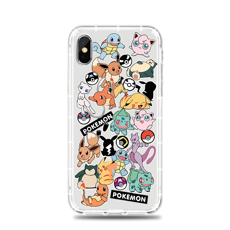 Pikachu Pokemon Pattern Casing Soft Phone Case iPhone 6 6S 7 8 6Splus 7plus XS XR Xsmax Cartoon Back Cover