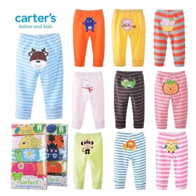 Sét 5 quần dài mông thú Carter nguyên sét