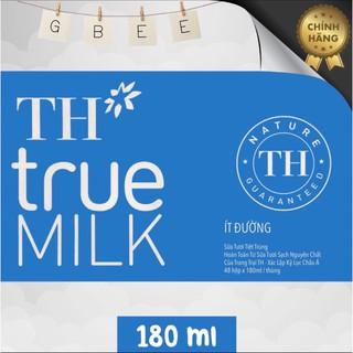 Thùng 48 hộp sữa tươi TH TrueMilk 180ml ( ít đường )