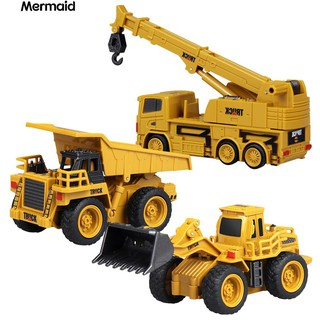 1/64 RC Bulldozer Crane Dump Truck Construction Engineering Vehicle Toys