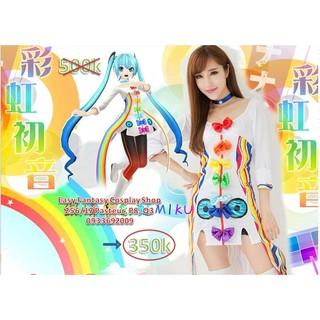 Đồ cosplay nhân vật miku rainbow