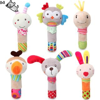 0-3 Years Old Animal Bell Rattle Educational Toys Soft Animal Shaped Toy Birthday Shower Gifts