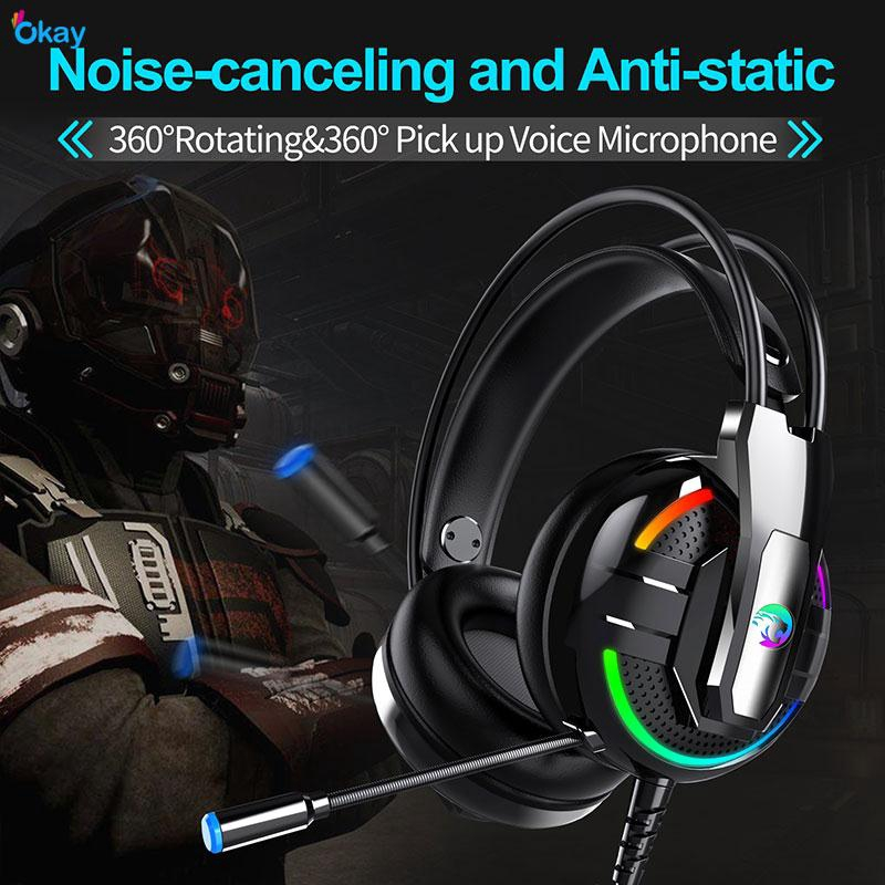 OK Gaming Headset Noise Reduction Headphone Cool 3.5mm Giá chỉ 276.762₫